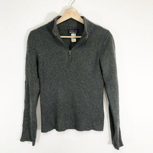 Patagonia Vintage Cashmere 1/4 Zip Sweater Small